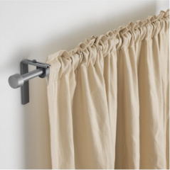 宜家 RÄCKA 瑞卡 窗帘杆 120厘米-210厘米 银色 银色