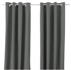 宜家 MERETE 麦瑞特 窗帘 2幅 145厘米×250厘米 灰色 灰色
