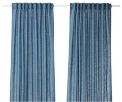 宜家 AINA 艾纳 窗帘 2幅 145厘米×250厘米 蓝色 蓝色