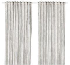 宜家 DAGRUN 达格伦 窗帘 2幅 145厘米×250厘米 白色/灰色 白色/灰色