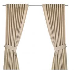 宜家 INGERT 英格特 附带窗帘 2幅 145厘米×250厘米 米黄色 米黄色