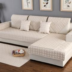 四季布艺沙发垫现代通用简约坐垫全棉沙发巾定做欧式沙发套罩全盖 货号100.SQ221 90*120