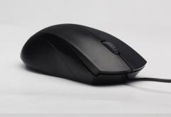 雷柏(Rapoo) N1200 有线鼠标 静音鼠标  USB鼠标  黑色 货号:100.ZL