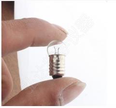 国产 电珠小灯泡老式手电筒物理电学实验教学用 3.8V  50个/盒