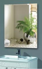 化妆镜无框洗手间墙壁镜贴墙镜子免打孔 斜边直角60*80可粘可挂 货号100.ZJ174