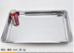 欧酷 不锈钢方盘不锈钢托盘不锈钢铁盘子长方形餐盘烧烤盘饭菜盘水饺盘 60*40*4.8深盘  货号100.MZ