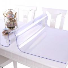 软玻璃PVC桌布 800mm*1600mm 防水防烫防油免洗透明胶垫塑料餐桌垫茶几垫水晶板 货号100.JQ0524