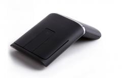 联想(Lenovo) N700 win8超薄无线鼠标 双模触控 2.4G 蓝牙4.0 带激光笔功能 黑色 PPT商务演示蓝牙鼠标 货号100.MZ