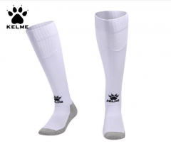 KELME卡尔美含袜套足球袜防滑加厚毛巾底长筒袜9876313 白色 均码 货号100.MZ