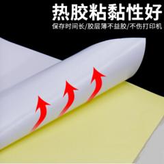 国产a4不干胶打印纸光面哑面标签纸空白背胶激光喷墨复印贴纸 A4哑面1包(100张/包)货号100.LB137