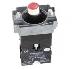 施耐德电气 XB2 22mm 按钮指示装置附件 ZB2BWB41C LED型带触点按钮基座 3个/组 货号100.MZ