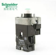 施耐德信号灯按钮 绿色带灯按钮座ZB2BWB31C 3个/组 货号100.MZ