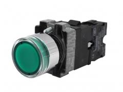 施耐德电气 XB2B 绿色 金属 按钮 XB2BW33M1C LED型平头按钮 3个/组  货号100.MZ