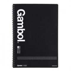 国誉(KOKUYO)Gambol学生办公双螺旋线圈笔记本子记事本 方格 A4/50页 4本装/组 货号100.MZ