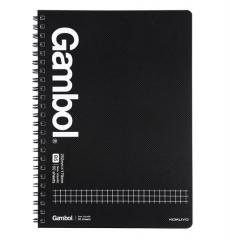 KOKUYO)Gambol学生办公双螺旋线圈笔记本子记事本 方格 B5/50页 4本装/组 货号100.MZ