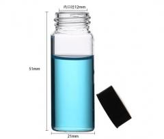 华鸥 透明样品瓶 小样瓶 透明瓶 试剂瓶 留样瓶 玻璃瓶 带盖 透明10ML 100只/盒 货号100.MZ