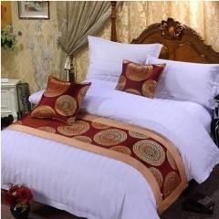 火烈鸟 床上用品床尾巾床旗床尾垫床盖桌旗 烟花 1.5米床50*210cm/条 货号100.MZ