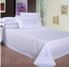 祝源 床上用品床单全棉白色三公分缎条床罩单卖定做 40支全棉普通缎条 1.8米床260*280CM 货号100.MZ