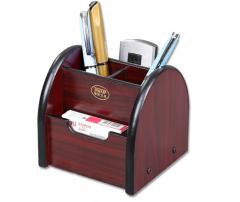 信发(TRNFA) TN-823 收纳座木质笔筒 办公桌面整理座置物柜 货号100.S1608