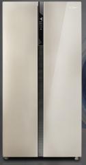 美的(Midea)552升 变频智能对开门冰箱 风冷无霜 速冷速冻 电脑控温 芙蓉金 BCD-552WKPZM(Q)      货号100.yt366