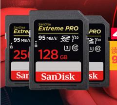 闪迪(SanDisk)128GB 读速95MB/s 写速90MB/s 至尊超极速SDXC UHS-I存储卡 V30 U3 Class10 SD卡      货号100.TL