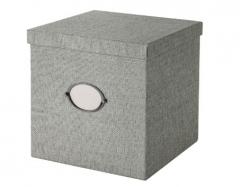 宜家 KVARNVIK 卡恩维克 附盖储物盒 30厘米x30厘米x30厘米 灰色