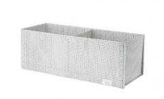 宜家 STUK 斯图克 储物盒带格 34厘米x51厘米x10厘米 白色/灰色