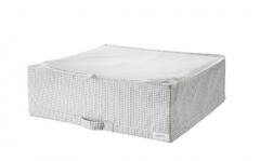 宜家 STUK 斯图克 储物袋 55厘米x51厘米x18厘米 白色/灰色