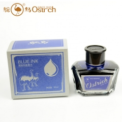 鸵鸟552纯蓝墨水1瓶60ml 1列5瓶 一箱60瓶   货号100.yt399
