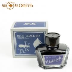 鸵鸟553蓝黑墨水1瓶60ml 1列5瓶 一箱60瓶   货号100.yt400