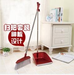 地畚箕地板笤帚不锈钢杆扫把簸箕套装组合塑料簸箕软毛扫帚畚斗扫5套/组 货号100.JM524