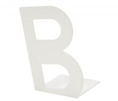 宜家 BUSBASSE 布巴瑟 书挡 19厘米x23厘米 白色