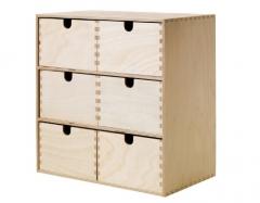 宜家 MOPPE 莫培 小型抽屉柜 31厘米x18厘米x32厘米 桦木色
