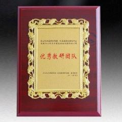 授权牌荣誉牌奖牌木质奖牌金箔奖牌证书颁奖牌匾24*31cm 货号100.HY524
