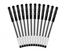 得力 6600 中性笔 黑色  12支/盒   0.5mm      XH.220