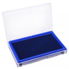 得力(deli)9864 方形透 明外壳快干印台(蓝色)     XH.140