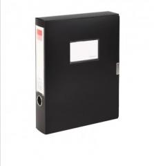 齐心 A1249 档案盒A4 黑色 货号100.XH527