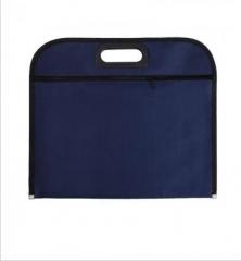 齐心 A1669 牛津布拉链式文件袋蓝色 A4 货号100.XH562