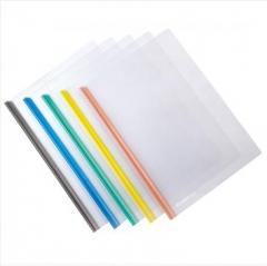 齐心 A856 晶彩欢颜彩色抽杆夹文件夹 5色套装 PP材质  货号100.XH570