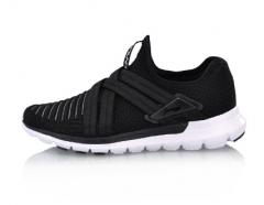 李宁 18年新款鞋女款 减震跑鞋 春季 ARHN172-1 标准黑   40码     TY.032