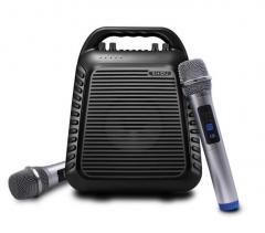 十度(ShiDu)SD-S90 UHF双无线扩音器小蜜蜂教师培训教学专用 大功率广场舞音响 低音炮音箱 蓝牙4.0 经典黑 货号100.MZ