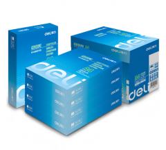 得力(deli)莱茵河复印纸 70gA4打印纸 5包装(共2500张)7401 货号100.YH