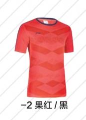 李宁 女子运动短袖T恤 ATSM415-2 果红/黑  S    TY.365