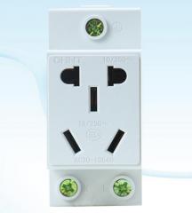 ADP模块插座10A五孔导轨式电源插座电源插座模块多功能插座货号 095.J1