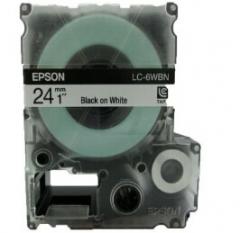 爱普生LC-6WBN 标签打印机LW-1000P色带盒 24mm宽幅 (黑字/白底)货号100.SQ946