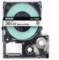 爱普生 LC-7WBN 标签打印机LW-1000P色带盒 36mm宽幅 (黑字/白底)货号100.SQ947