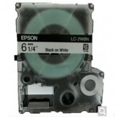 爱普生LC-2WBN 标签打印机LW-1000P色带盒 6mm宽幅 (黑字/白底)货号100.SQ953