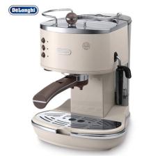 意大利德龙(Delonghi) ECO310(奶油白)泵压式咖啡机 家用 商用 意式 半自动咖啡机 不锈钢锅炉 货号100.YH