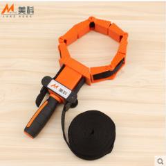 美科木工夹具拼板夹4米尼龙绑带夹工具多功能捆绑夹多边形角度夹 绑带夹1套+5个夹块     货号100.hx