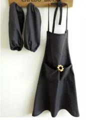 陶艺围裙   成人款  双肩加长背带黑厚帆布    货号100.hx